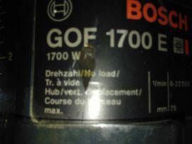 Gebraucht, Biete gebrauchte Profi Oberfräse GOF 1700E Typ: 0 601 611 703 gebraucht kaufen  Lauterach