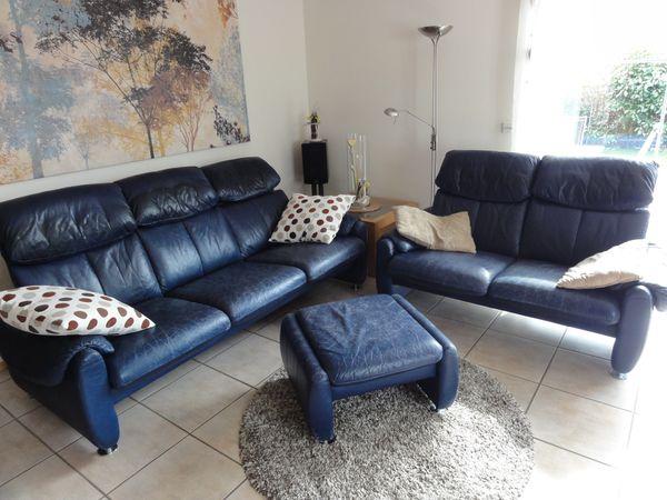 Sofa Couch Leder Fa Laauser 3 Sitzer 2 Sitzer Und Hocker In Bad