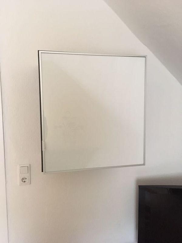 IKEA WAND Hängeschrank Würfel Tür Milchglas Korpus schwarz braun ...