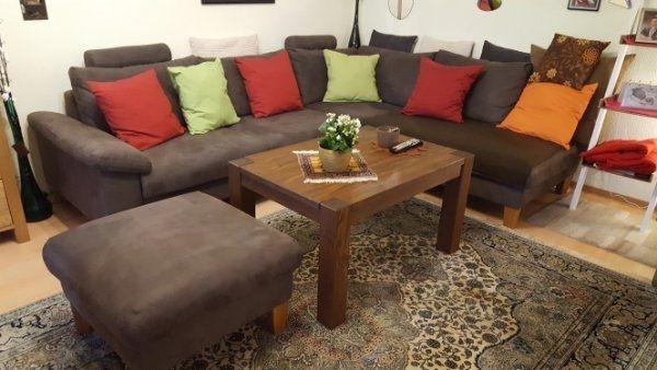 Braune Couch Mit Hocker Zu Verkaufen In Bad Dürkheim Polster