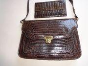Damen Handtasche Krokodilleder