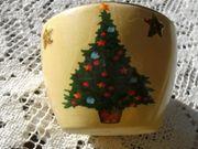 Teelichthalter für Weihnachten mit Goldrand