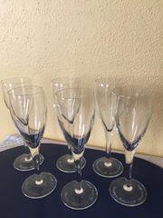 6 Champagner Gläser