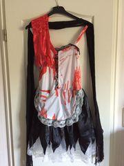 Damenkleidung Halloween Kostüm Kleid Satin