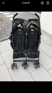 MacLaren Twin Buggy black