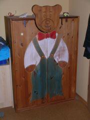 Kinderkleiderschrank Massivholz Echtholz