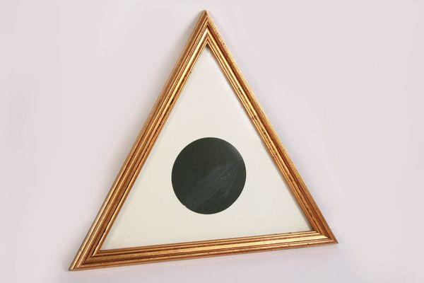 Dreieckiger Holzbilderrahmen-Fotorahmen-Handarbeit 13 x 13