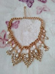 Statement Kette gold silber rosa