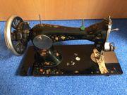 Gritzner Nähmaschine mit Blumenmuster