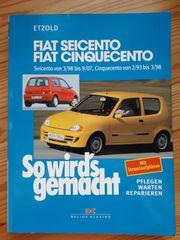 Reparaturanleitung Fiat Cinquecento Seicento