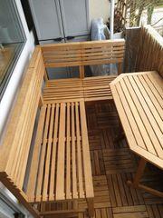 Eckbank-Set inkl Klapptisch Holz