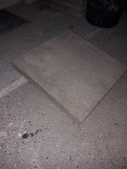 57 Stück Betonplatten grau 50×50×0