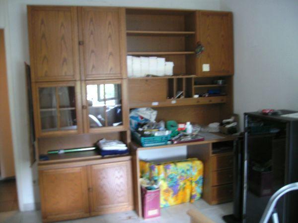Wohnwand Wohnzimmerschrank Schrankwand Mit Schreibtisch