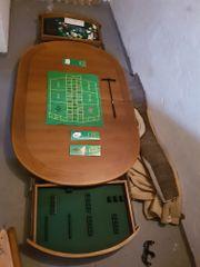 Massiver Echtholztisch/Casinotisch/
