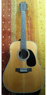 Gitarre 12saitig mit preamp stimmgerät