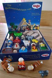 Haba Weihnachtskrippe mit zusätzlichen Figuren