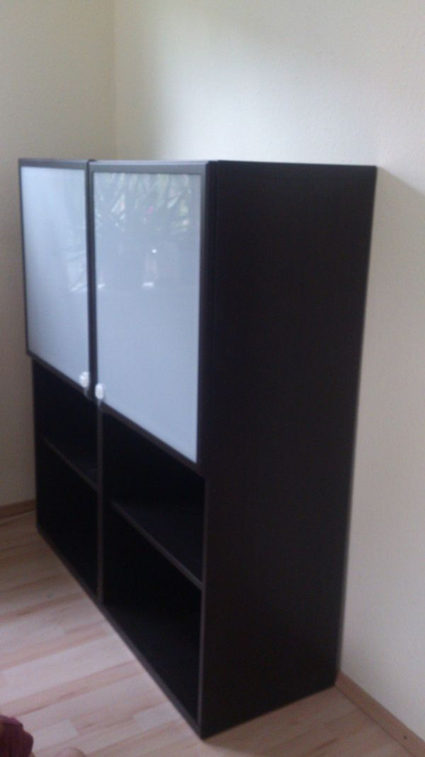 vitrine besta ikea schwarz in dossenheim ikea m bel. Black Bedroom Furniture Sets. Home Design Ideas