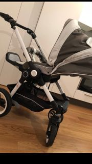 Kinderwagen mit Babywanne Teutonia