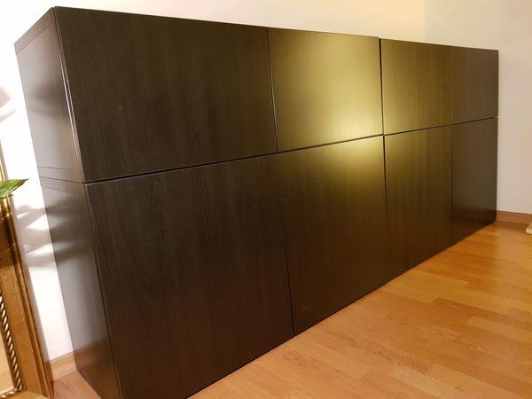 Kommode Dunkelbraun 2 Einzeln Verfugbar In Munchen Ikea Mobel