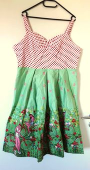 NEU Rockabilly Kleid Hellgrün mit