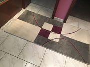 Neuwertiger moderner Teppich 80x150cm aus
