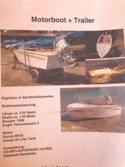 Motorboot und Trailer