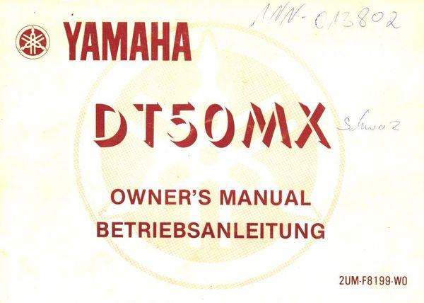 Bedienungsanleitung Yamaha DT 50 MX in Bochum - Mofas, 50er ...