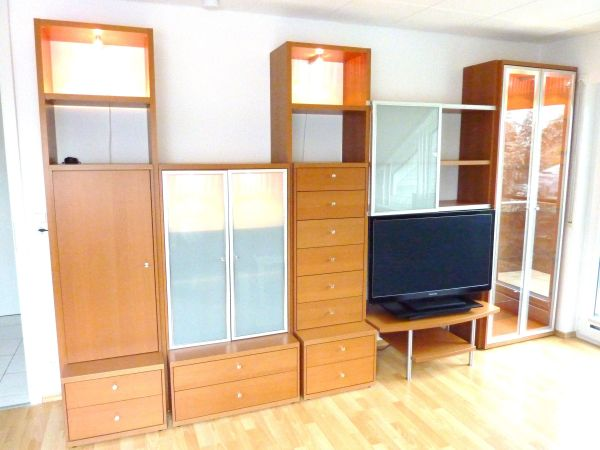 h lsta now no 2 wohnwand buche sepia in leonberg wohnzimmerschr nke anbauw nde kaufen und. Black Bedroom Furniture Sets. Home Design Ideas