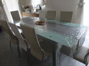 Esszimmertisch mit 8 stühlen Gratis
