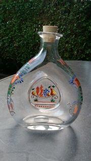 Flasche mit Muster Deko