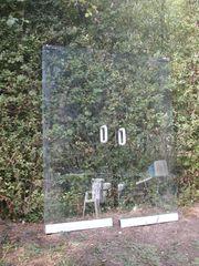 Glastüre Schwingtüre rahmenlos 2 Stück