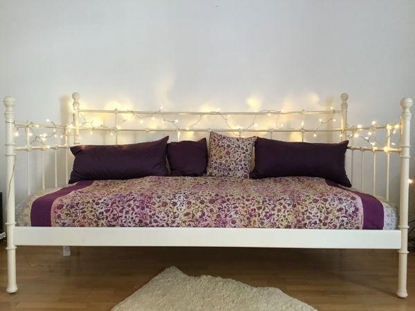 IKEA Metall Bett TROMSNES Weiß