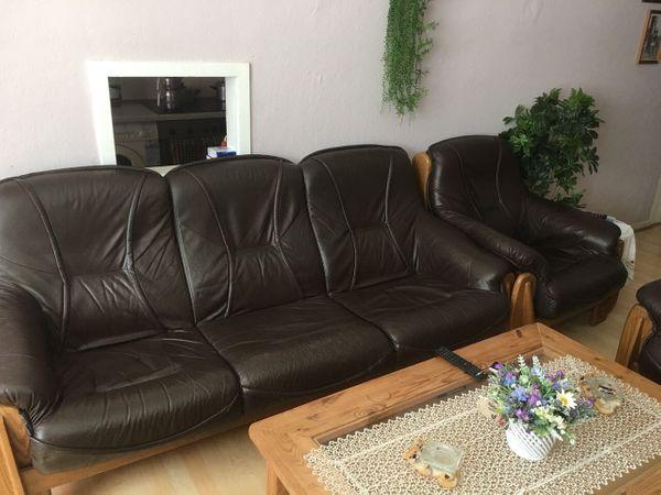 3 Teiliges Sofa echt Leder