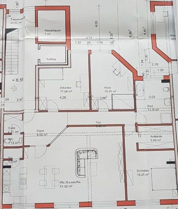 Penthousewohung zu vermieten ( » Vermietung 4-, Mehr-Zimmer-Wohnungen