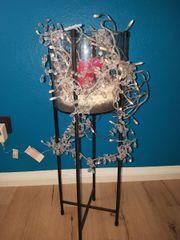 Deko Glas Ständer Kerze Lichterkette