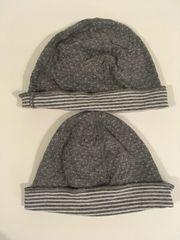 2x Mütze Wendemütze Jersey dünn