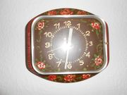 Handbemalte Uhr Küchenuhr Wanduhr Rosenmotiv