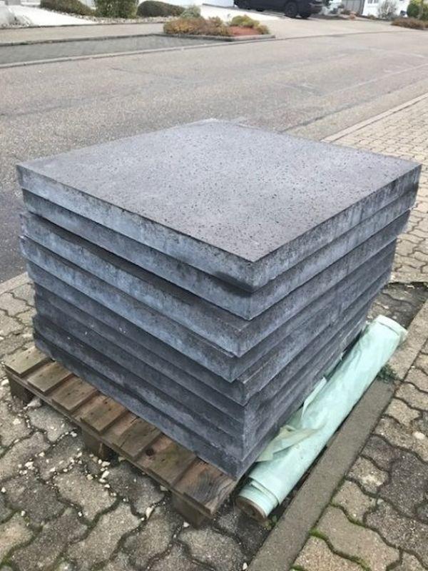 XXL Betonplatten Mit Eisen Verstärkt X X Cm In Karlsruhe - Betonplatten 3cm