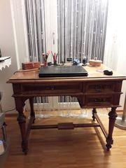 Antiken Schreibtisch Nussholz massiv