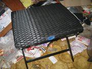 Polyrattan Klapphocker Tisch Beistelltisch Rattan