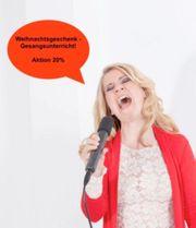 Gesangsunterricht als Weihnachtsgeschenk - in Köln
