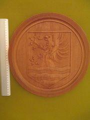 Grosser Holz-Wappenteller