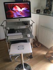 Platzsparend Designer-Computertisch inkl Barhocker