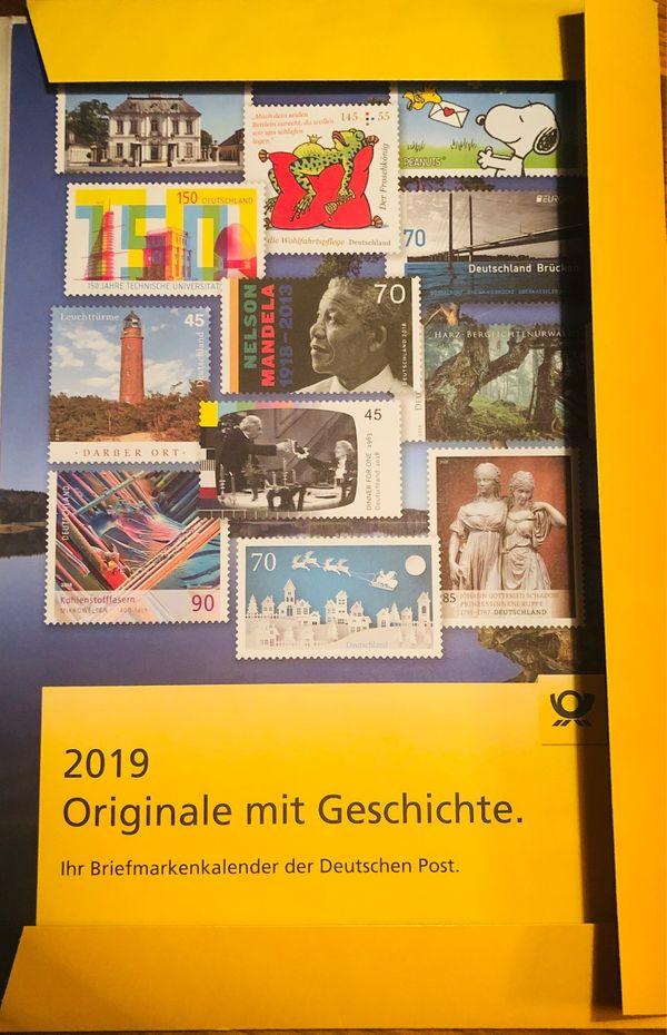 Kalender 2019 Der Deutschen Post In Schwaikheim Briefmarken Kaufen