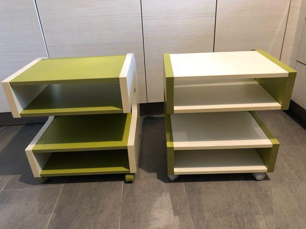 2x Ikea Ilen Beistelltisch Tv Tisch Oder Für Anlage Grün Und Weiß