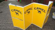 4 TEILIGE CAMEL ZIGARRETTEN WERBEWAND