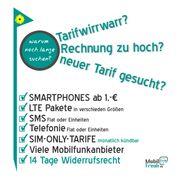 Mobilfunktarife mit/ohne
