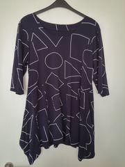 Shirt XL elastisches Material blau