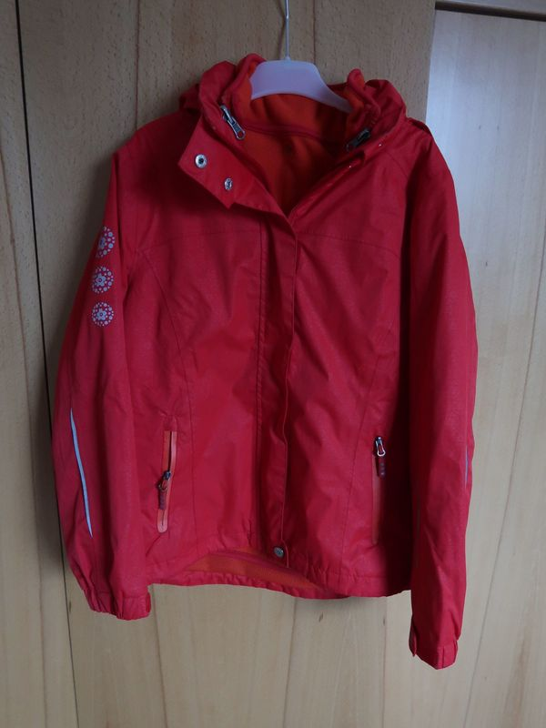 Allwetterjacke 3 in 1, rot-orange, Gr. 134 140 von Tchibo in ... f757f21040