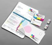 Geschäftsausstattung Bürobedarf Briefpapier Broschüren Flyer